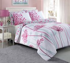 Pink Meadow - Floral Pieridae Luxury Duvet Cover Quilt Reversible Bedding Set UK