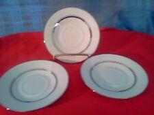 Oxford, Bone China, Lexington, Saucers by Lenox set of three Platinum Trim