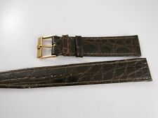 19mm Omega Vintage Strap & Buckle New Old Stock Brown