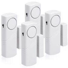 4x Fenster Tür Alarm Einbruchschutz akustisch drahtlos Alarmanlage 100dB Sirene