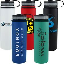 48 Custom Printed Vacuum Water Bottles, Bulk Promotional Products, Party Favor