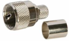 Ten (10) PL-259 Connectors for RG-8X and LMR®240 Coax Cable, Crimp  Type