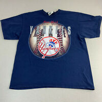Vintage Lee New York Yankees T-shirt Mens Large Blue Short Sleeve 90s MLB