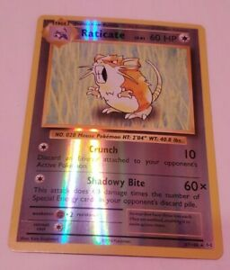 Raticate REVERSE HOLO RARE 67/108 Pokemon TCG XY Evolutions Card NM