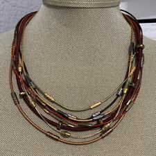 CHICO'S Multi Strand Multi-color Boho Chic Necklace
