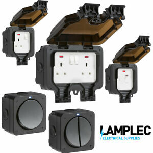 OUTDOOR WEATHERPROOF SOCKET SWITCHED PLUG IP66 13A SINGLE OR DOUBLE GANG DP