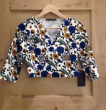 Zara Semi Fitted Floral Tops & Shirts for Women