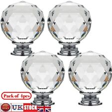4Pcs Door Knobs Handles Crystal Glass Cupboard Drawer Cabinet Kitchen Wholesale