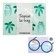 Starbucks Korea 2018 Summer Tropical mint ice cube tray Limited Edition + Card