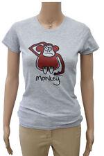 Cotton Blend Animal Print Short Sleeve T-Shirts for Women