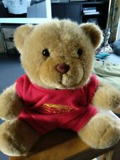 Brown Teddy Bear With Red outfit. Lovely bear.