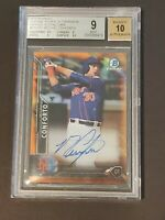 2016 Bowman Chrome Orange Michael Conforto SSP /25 Auto RC BGS 9/10 Rookie
