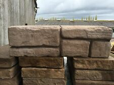 50 WETHERDALE OLD TOWN STONE WALLING BLOCK 450x140x145mm CHOCOLATE 05733 DEL INC