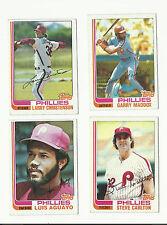 VINTAGE 1982 TOPPS BASEBALL CARDS – PHILADELPHIA PHILLIES - MLB