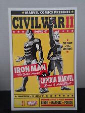 "Civil War II Lithograph War 2 Limited Edition Marvel 10 1/2 "" Art Print Iron Man"