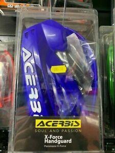Acerbis Blue X Force Handguard Yamaha TM Sherco (White writing)