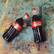 BOTTIGLIA Coca esclusivo Orecchini Borchie COCA COLA earposts retrò fresco confuso Dolly
