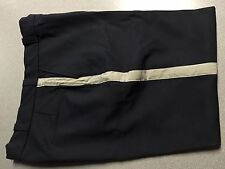 POLICE PANTS, Men, 40 x 29, Black, Silver Stripes, Horace Small