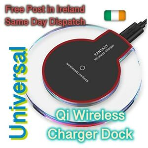 Qi Wireless Charger Dock Charging Pad for iPhone & Samsung Universal