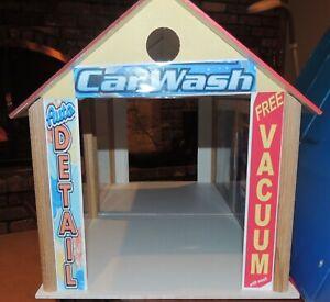 CUSTOM KIT WOOD ''CAR WASH'' FULLY DECORATED 1:18 Scale