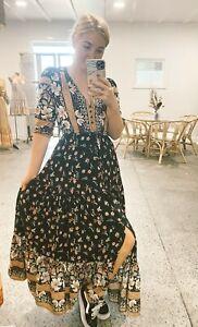 JAASE WOMEN'S TESSA MAXI DRESS ETERNITY BLACK FLORAL PRINT GENEROUS SIZING