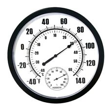 10-inch Plastic Wall Thermometer Hygrometer Thermo-hygrometer Hygro-thermometer