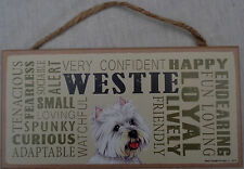 Westie Subway Style 5 X10 hanging Wood Sign Usa (West Highland White Terrier)