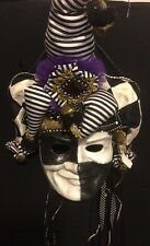 Katherine's Collection Retired Mardi Gras Party Mask Wall Hanging NEW Black