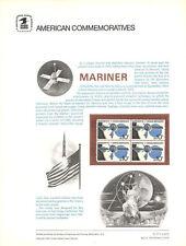 #47 10c Mariner Spacecraft #1557  USPS Commemorative Stamp Panel