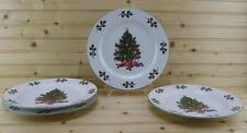 Gibson NOEL MORNING (4) Dinner Plates |Everyday Gibson| Christmas Tree / Holly