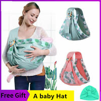 Baby Infant Nursing Carrier Front Back Pouch Wrap Sling Hipseat Cover US