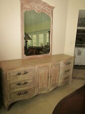 French Dresser  Carved  Wood With  Mirror  9 Drawers Shipping is Not Included