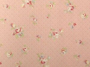 Cottage Shabby Chic Lecien Rococo & Sweet  Floral Fabric 31863L-20 Baby Pink BTY