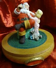 Coca Cola 1990 Santa'Claus is Coming to Town Musical Figurine Music Box 36007