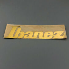 0.1 mm thick Metal Gold Headstock Logo Decal Sticker for Ibanez