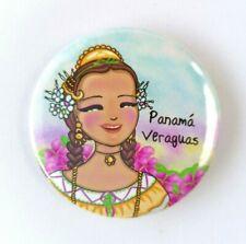 Polleras Folk Costumes Panama  Magnets Souvenirs Illustrated Print Art