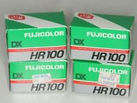 Fujicolor HR100 35mm Film, New in Boxes - (4) 36 exp Rolls, Dated 1988 or prior