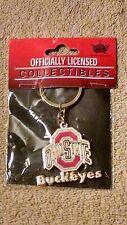 Ohio State Buckeyes Keychain Gold Tone NEW Factory Sealed NCAA