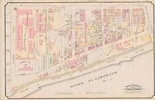 1890 MONTREAL, CANADA, ST. MARY'S WARD, PARTHENAIS SQUARE, COPY PLAT ATLAS MAP