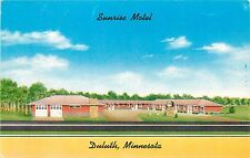 Sunrise Motel Duluth Minnesota Postcard