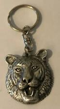 Tiger Head Pewter Keyring key chain Made in UK Animal Feline