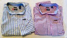 Lot of 2 Chaps Ralph Lauren Button Up Log Sleeve XL.. Nice... Stripes.. Shirts