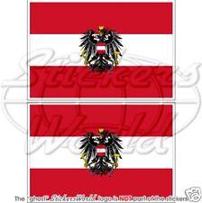 Autriche Etat Drapeau Autrichien Autriche Vinyle Autocollant Sticker 100 mm x2