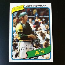 1980 Topps JEFF NEWMAN #34 Oakland A's  Athletics