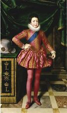 Oil painting young boy Louis XIII of France at 10 Years of Age Frans Pourbus II