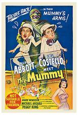 * Abbott & Costello Meet Meet The Mummy * Movie Poster 1956 Large Format 24x36