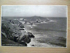 Vintage 1930 posted Postcard with Stamp 'Towan Head Newquay Judges Ltd (7596)