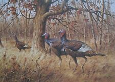 Jim Killen 1987  WILD TURKEY  STAMP PRINT The Clearing Signed 928/1000  #42
