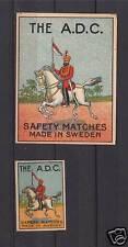 Ancienne étiquette allumettes Suède The A.D.C.