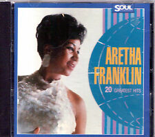 CD 20T ARETHA FRANKLIN 20 GREATEST HITS BEST OF 1987 GERMANY